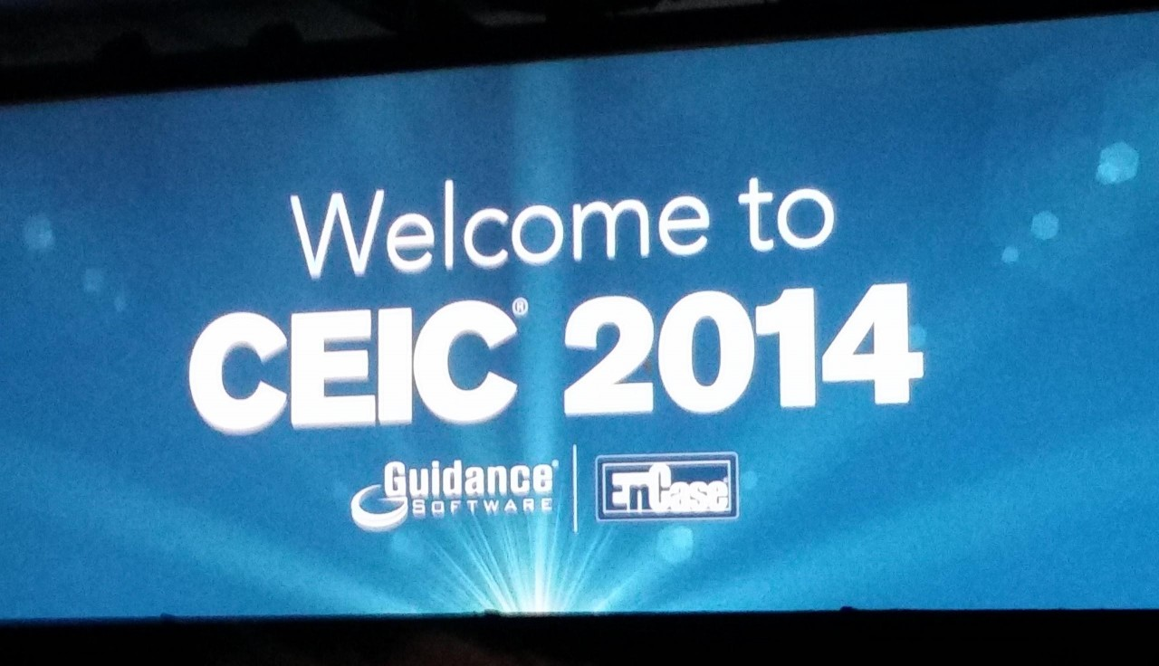 Welcome to CEIC 2014 caption sponsored by Guidance Software and EnCase