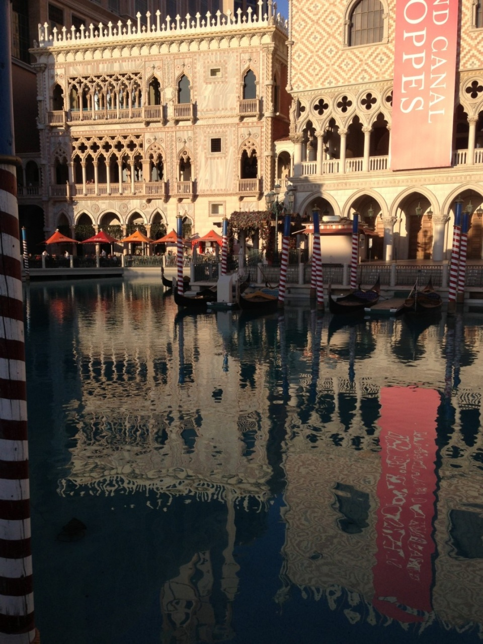 Just outside the Venetian
