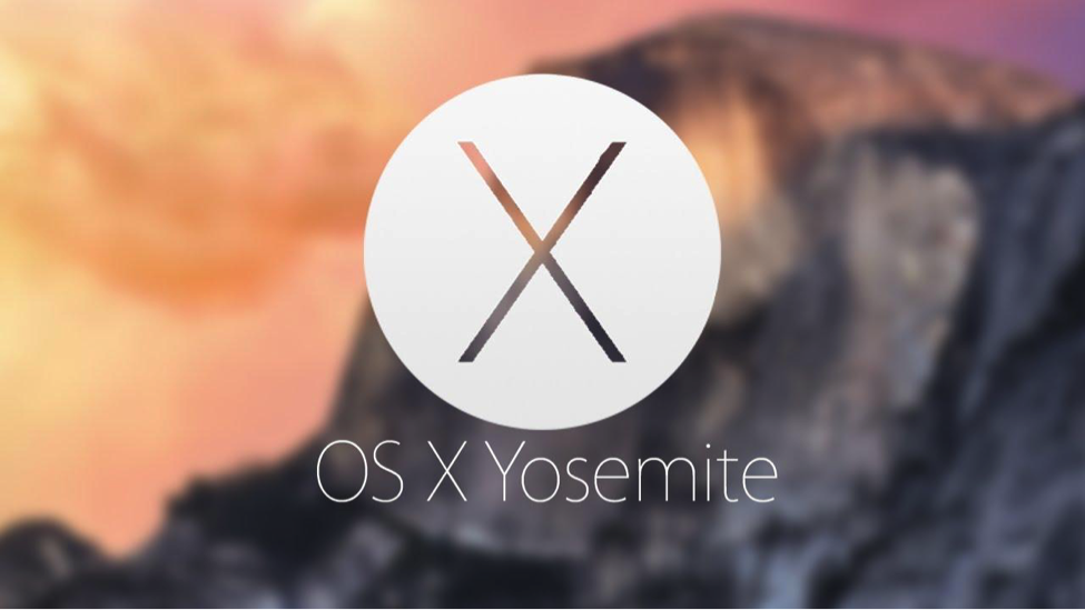 MacOSX Yosemite blurred background