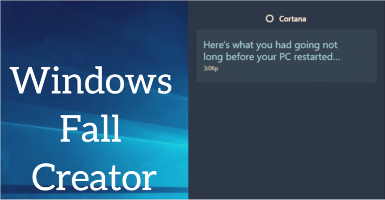 Windows Fall Creator Title