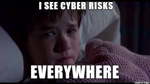 "Image stating ""I see cyber risks everywhere"""
