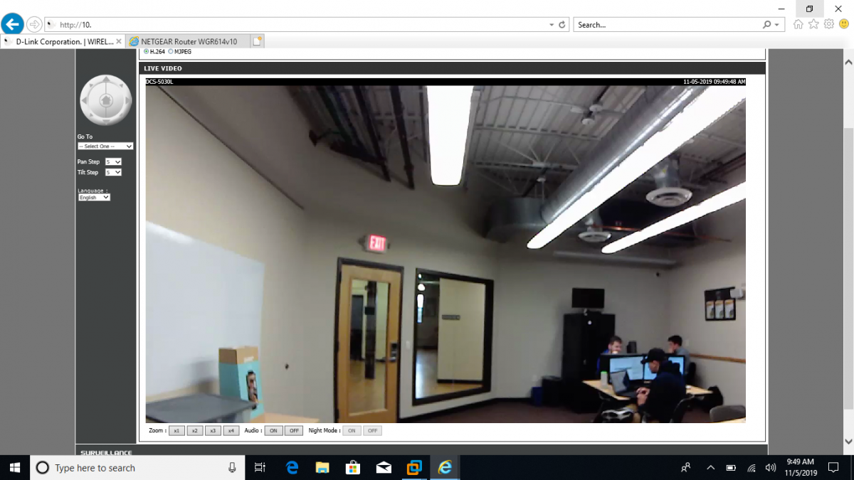 D-Link intrusion footage screenshot
